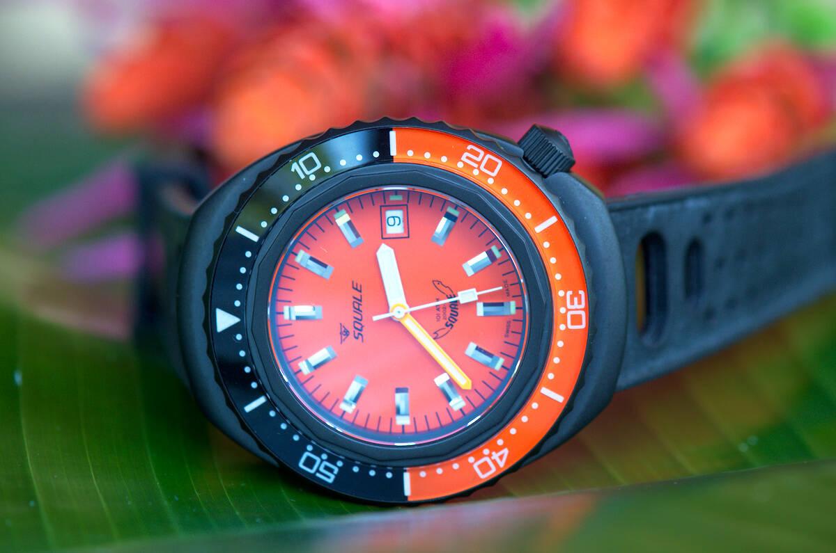 Squale 101 atmos 2002 Orange Black PVD Dive Watch