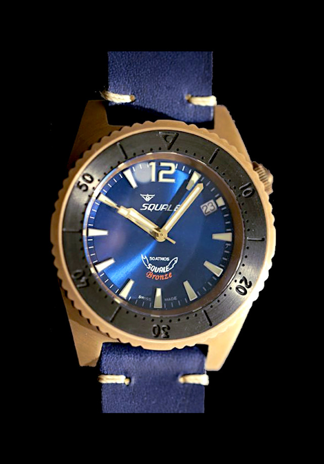 Squale 1521 Bronze Blue 50 atmos Limited Edition Dive Watch