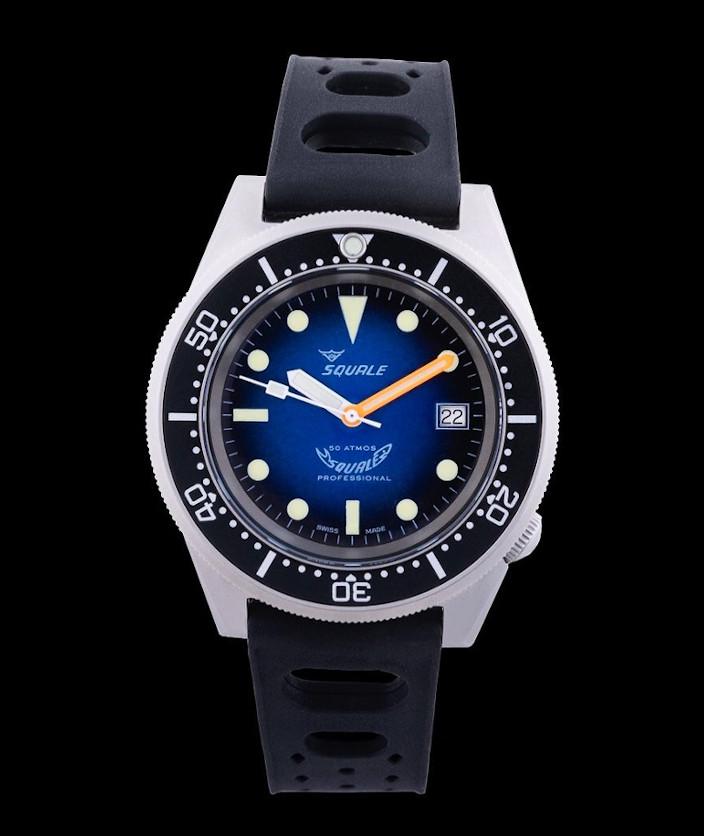 Squale 50 atmos 1521 Blue Soleil Dive Watch