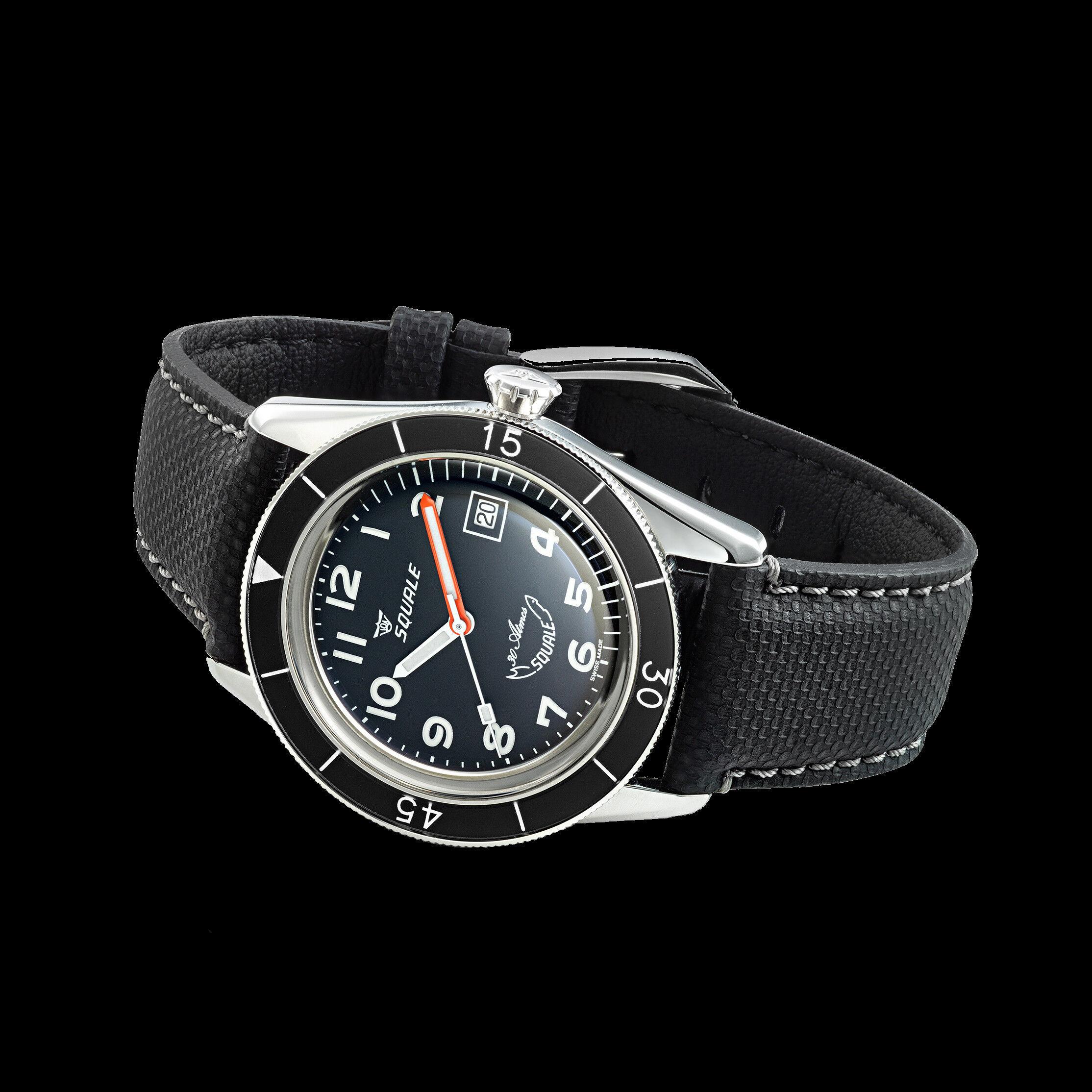 Squale Black Arabic SUB-39 Dive Watch