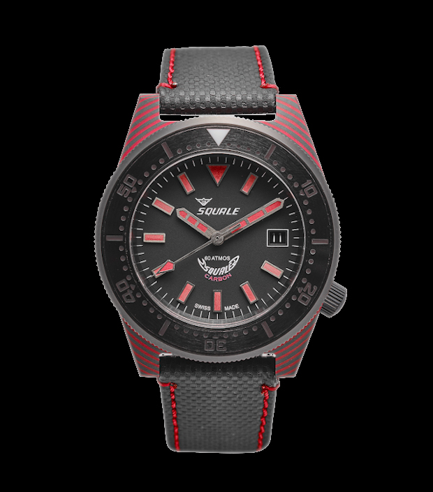 Squale T-183 Red Carbon Dive Watch