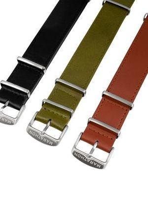 Marathon 22mm Leather NATO Strap