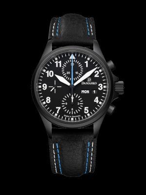 Damasko DC58 Black Chronograph Pilot Watch