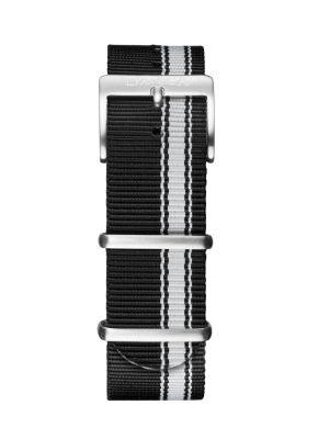 Davosa Black-White Nylon Strap