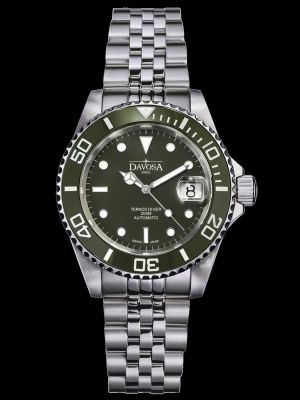 Davosa Ternos Ceramic Green Dive Watch