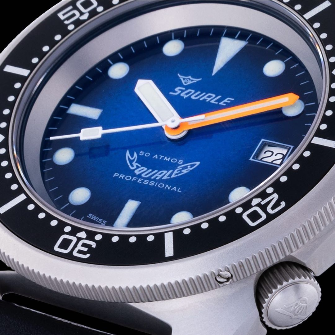 Squale 50 atmos 1521 Blue Soleil Dive Watch