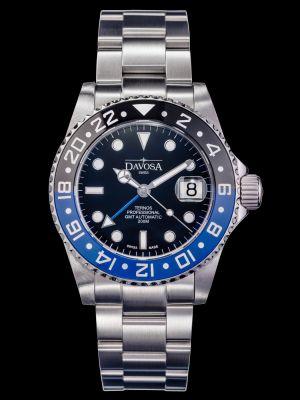 Davosa Ternos Professional GMT TT Black-Blue Trialink Dive Watch
