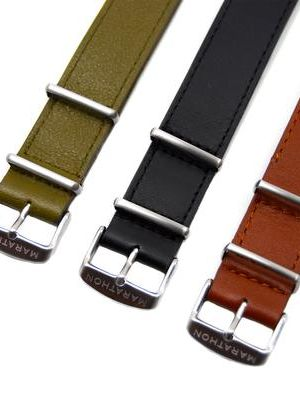 Marathon 18mm Leather NATO Strap