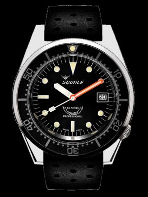 Squale 50 atmos 1521 Dive Watch - Black Polished