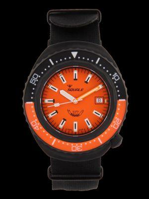 Squale 101 atmos 2002 Professional Dive Watch - Orange/Black Orange PVD