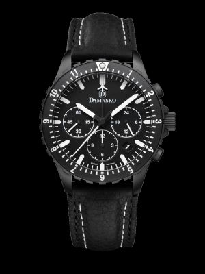 Damasko DC86 Black Chronograph Pilot Watch