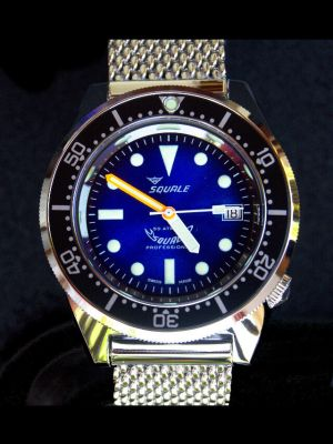 Squale 50 atmos 1521 Dive Watch - Blue Soleil Polished