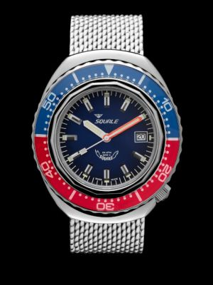 Squale 101 atmos 2002 - Blue/Red Polished