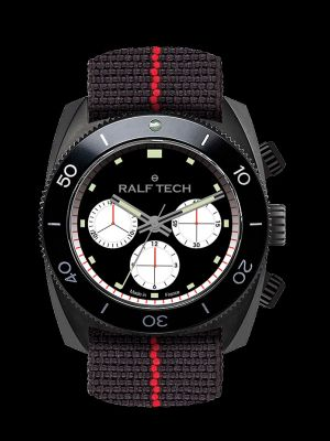 Ralf Tech WRV Black Barracuda Inverse Panda Chronograph Dive Watch