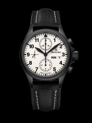 Damasko DC57 Black Chronograph Pilot Watch